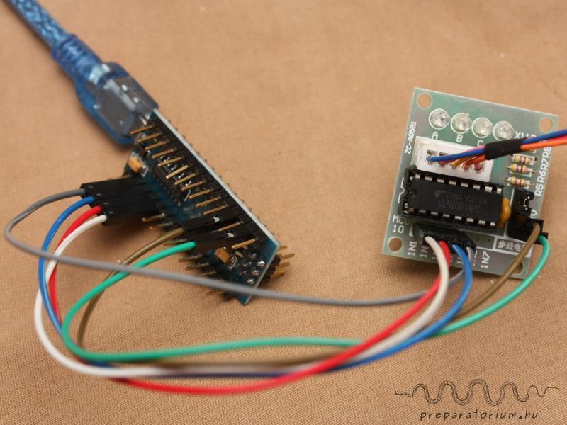Connecting the Arduino Nano and the Controller / Az Arduino Nano és a motor vezérlő összekötése