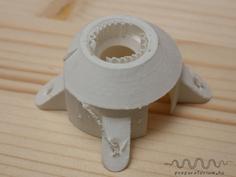 Printed element A before removing the support material / Kinyomtatott A elem a támaszanyag eltávolítása előtt