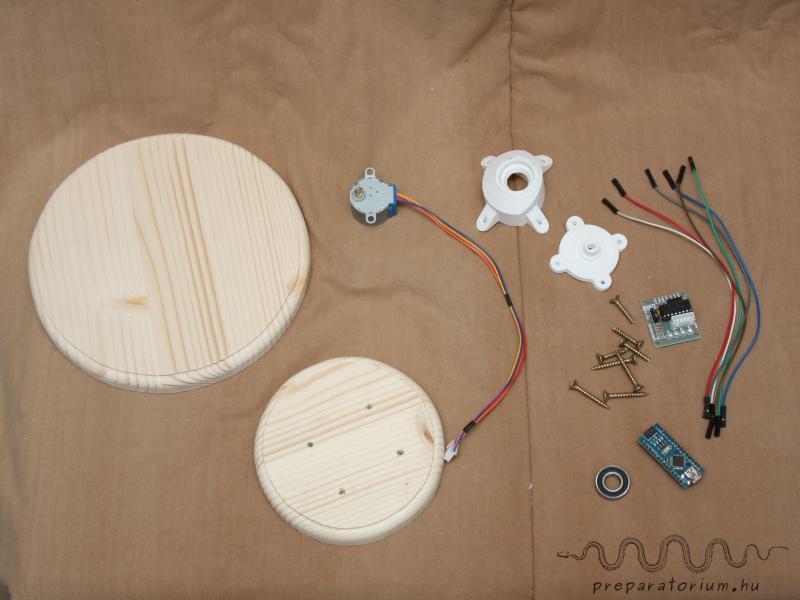Necessary equipment for the rotating device / A forgató eszközhöz szükséges alkatrészek